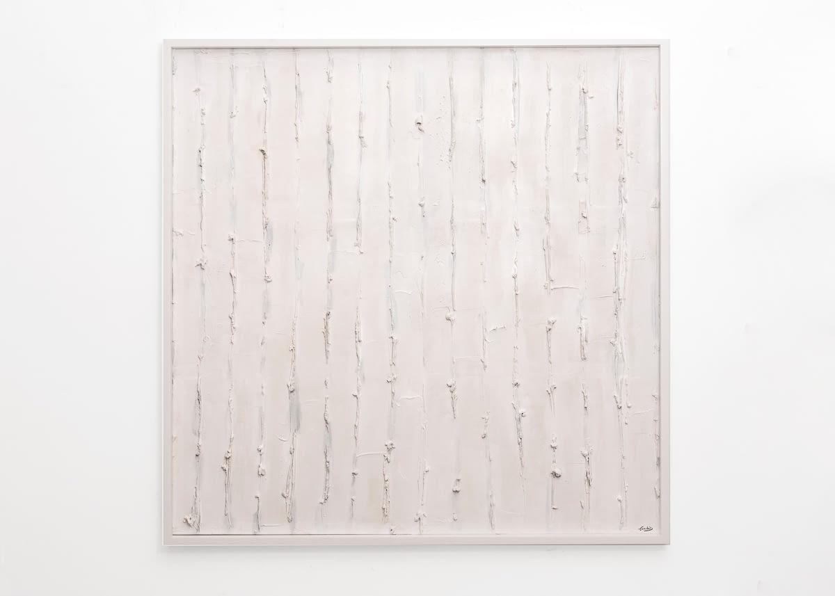 Campo di Fiori – 100×100-plaster and acrylic on canvas- 2018
